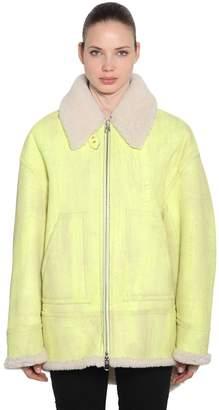 MM6 MAISON MARGIELA Oversized Washed Shearling Jacket