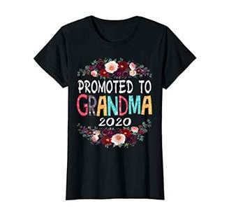 Womens Being grandparent funny tshirt promoted to grandma 2020