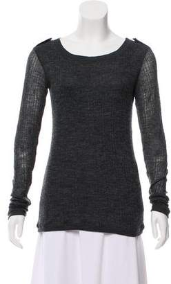 Elizabeth and James Long Sleeve Scoop Neck Top