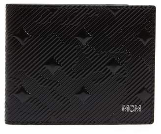 MCM Coburg Lion Patent Leather Bifold Card Case