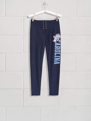 PINK University of North Carolina High Waist Lace-Up Fleece Lined Legging