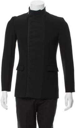 Christian Dior Barrel Collar Overcoat