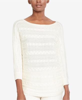 Lauren Ralph Lauren Cable-Knit Boat-Neck Sweater, A Macy's Exclusive $89.50 thestylecure.com