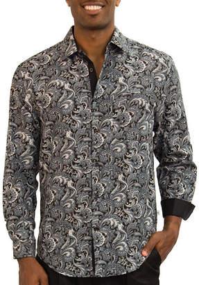 Steve Harvey Long Sleeve Pattern Button-Front Shirt
