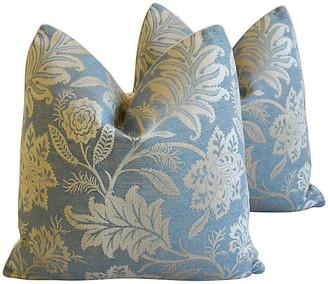 One Kings Lane Vintage GP & J Baker Lismore Damask Pillows - Pr
