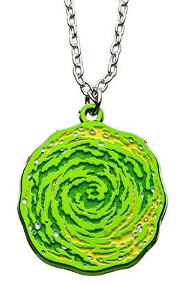 Cartoon Network Rick and Morty Glow in the Dark Portal Enamel Necklace