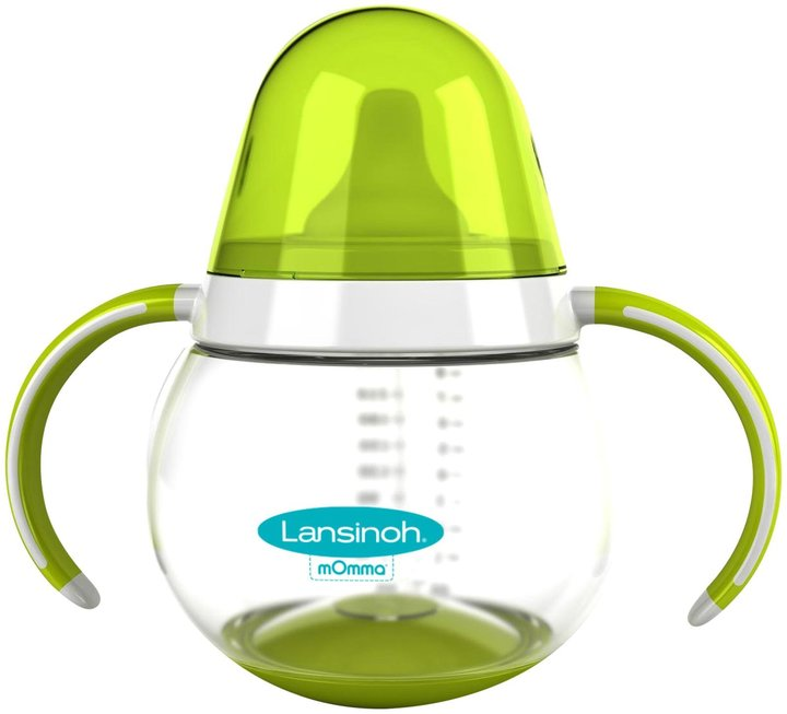 Lansinoh mOmma Non-Spill Sippy Cup Double Handle - Green - 8.4 oz
