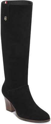 Tommy Hilfiger Women's Rosario Block Heel Boots Women's Shoes