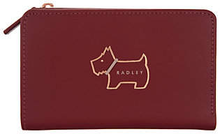 Radley London Heritage Dog Outline LeatherZip-Top Wallet