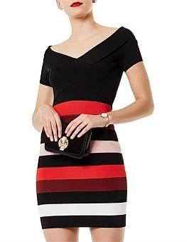 Karen Millen Striped Bodycon Dress