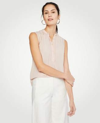Ann Taylor Shirred Popover Shell