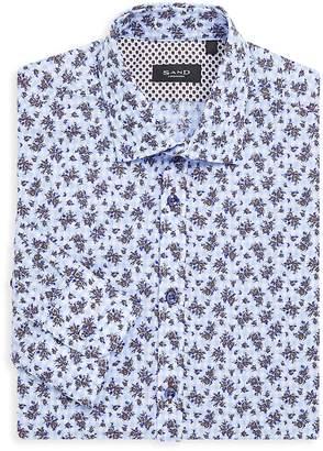 Sand Men's Regular-Fit Patterned Dress Shirt