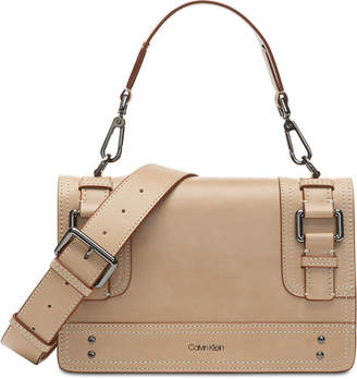 Calvin Klein Brynn Pebble Leather Crossbody