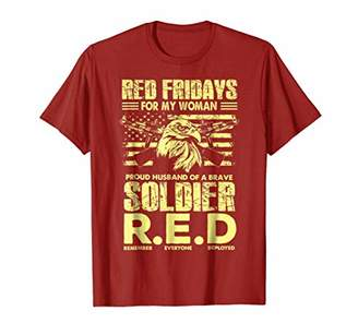 Red Friday - T-Shirt Proud Husband Of Military Soldier Woman