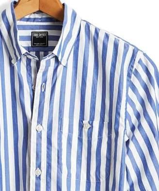 Todd Snyder Stripe Oxford Button Down Shirt in Blue