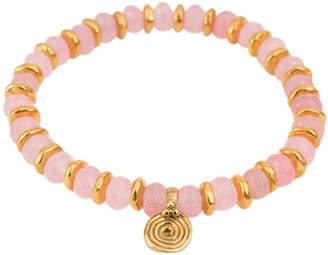 Eye Of The Sea Beaded Rose Quartz Bracelet