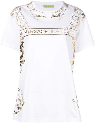 Versace baroque logo printed T-shirt