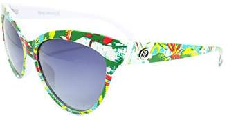 Margaritaville Birds of Paradise Floral Polarized Round Sunglasses