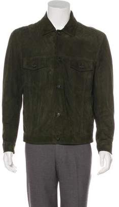 Isaia Suede Shirt Jacket