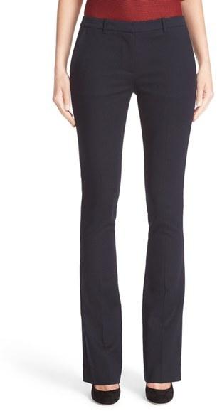 Women's Armani Jeans Double Weave Stretch Satin Pants