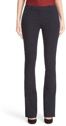 Women's Armani Jeans Double Weave Stretch Satin Pants $370 thestylecure.com