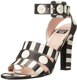 Moschino Women's Stripes and Polka Dots Dress Sandal