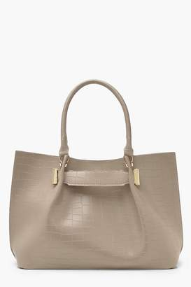 boohoo All Over Croc With Tab Detail Daybag