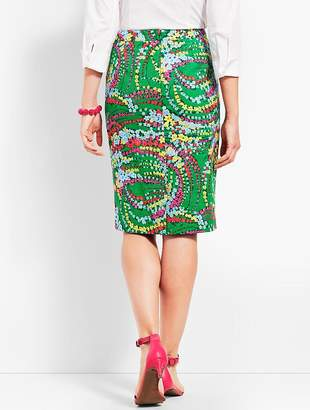Talbots Floral Pencil Skirt