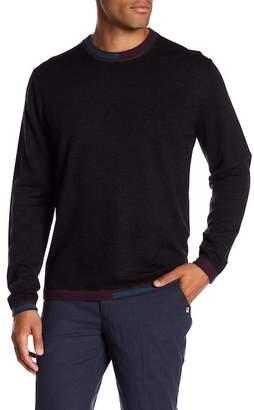 Robert Graham Cooperstown Long Sleeve Crew Neck Wool Sweater