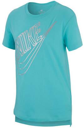 Nike Big Girls Futura-Print Cotton T-Shirt