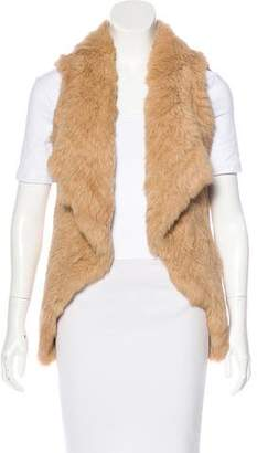 Yves Salomon Rabbit Fur Knit Vest