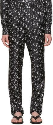 Dolce & Gabbana Black Silk Music Pajama Trousers $995 thestylecure.com