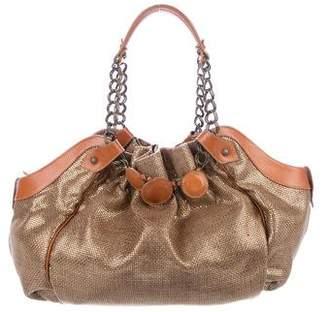 Christian Louboutin Metallic Canvas Handle Bag