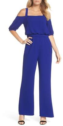 Vince Camuto Cold Shoulder Blouson Jumpsuit