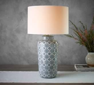 Pottery Barn Langley Ceramic Cylinder Lamp
