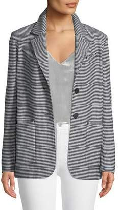 Derek Lam 10 Crosby Oversized Check Two-Button Blazer