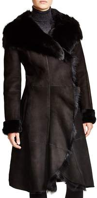 Maximilian Furs Maximilian Hooded Shearling Coat with Toscana Collar - 100% Exclusive