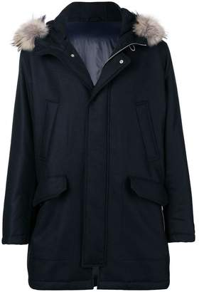 Eleventy fur hood coat