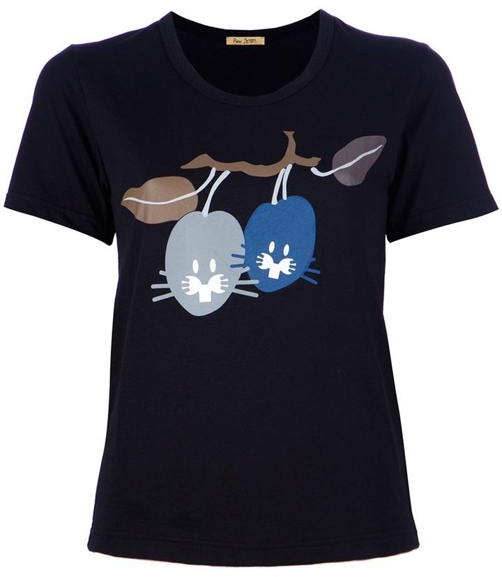 Peter Jensen 'Plum Rabbits' t-shirt
