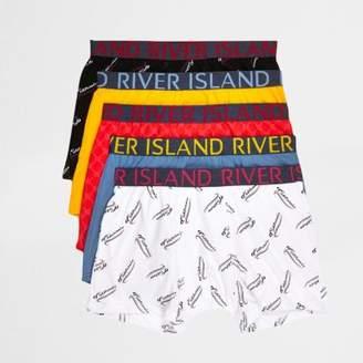 River Island Mens Blue print boxers multipack