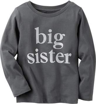 Carter's Toddler Girls Long Sleeve Big Sis T-Shirt