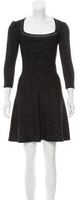 Antonio Berardi Leopard Jacquard Mini Dress