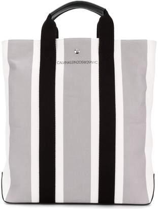 Calvin Klein striped shopper tote