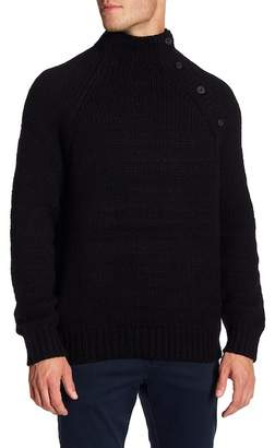 Vince Button Neck Wool Blend Knit Sweater