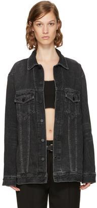 Alexander Wang Grey Oversized Denim Daze Jacket