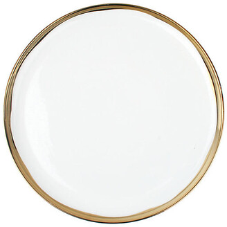 Canvas Set of 4 Dauville Dinner Plates - White/Gold