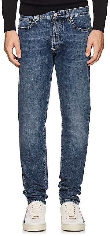 Givenchy Men's Lightning-Bolt-Stitched Skinny Jeans