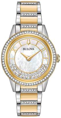 Bulova 98L245 Turnstyle Crystal Accent Two-Tone Women's Watch
