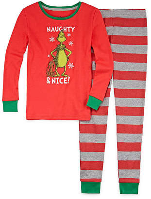 Asstd National Brand The Grinch 2 Piece Pajama Set - Girl's