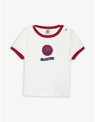 Petit Bateau Logo cotton T-shirt 3-36 months